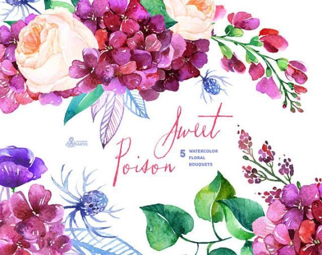 Purple Rose clipart purple bouquet Clip Bouquets Wedding Weddbook Poison:
