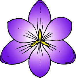 Wildflower clipart crocus Art clip and Clipart Clipart
