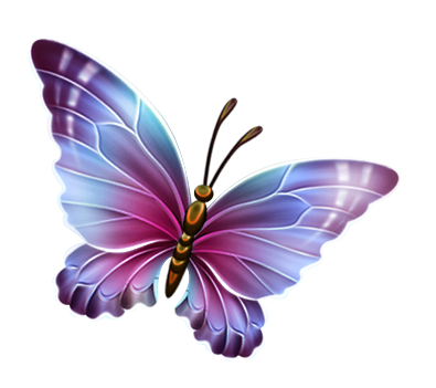 Turquoise clipart purple butterfly #3