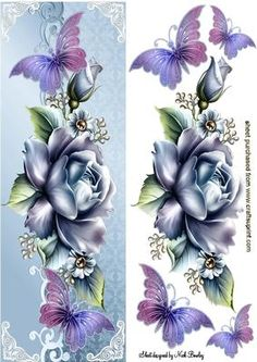 Purple Rose clipart small butterfly #5