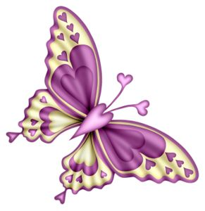 Purple Rose clipart small butterfly #1