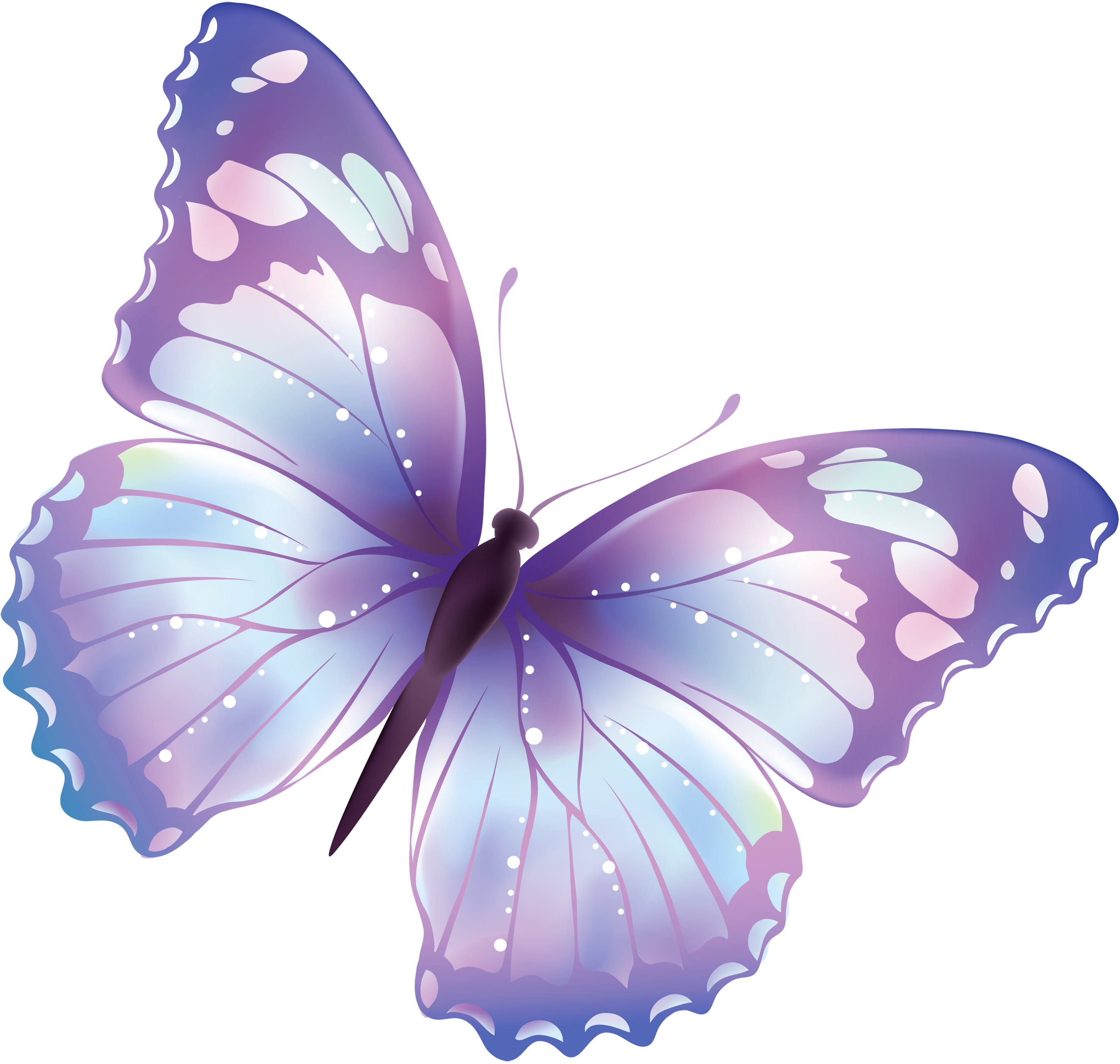 Purple Rose clipart small butterfly #9