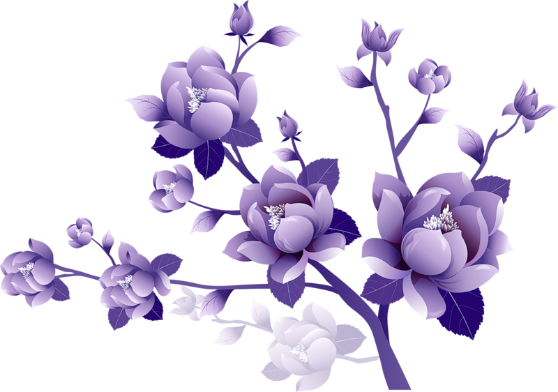 Purple Rose clipart transparent background Large Painted Gallery Flower Fullsize