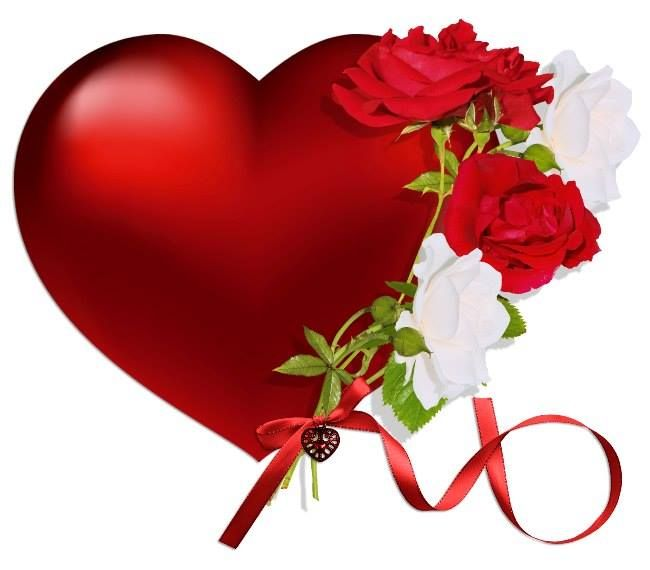 Red Rose clipart flower heart #12