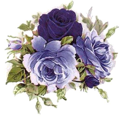 Vintage Flower clipart purple Printables Clip best Clip and