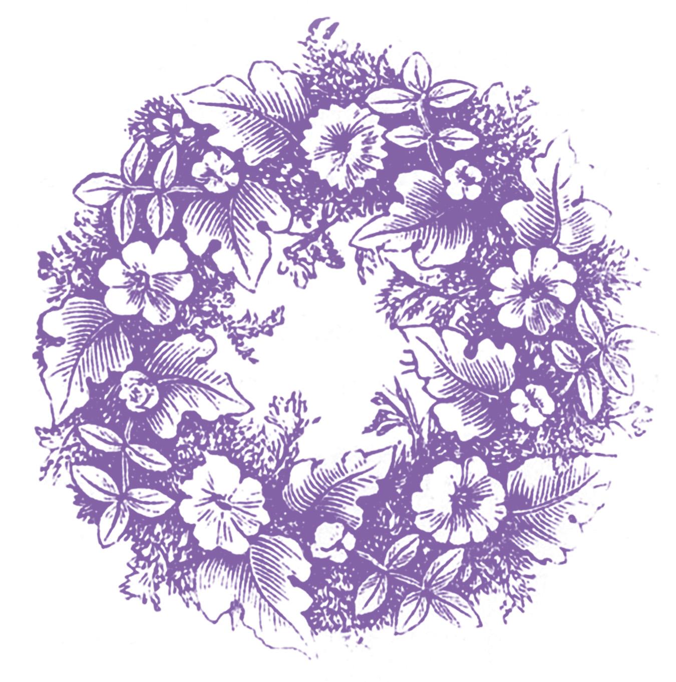 Vintage Flower clipart purple Art page Free Art purple