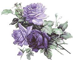 Vintage Flower clipart purple Napkins  Napkins VINTAGE Shabby