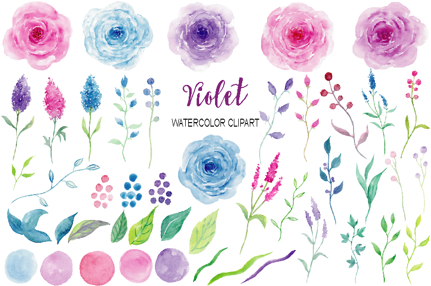 Purple Rose clipart violet #8