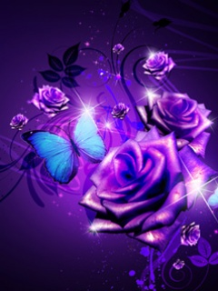 Purple Rose clipart wallpaper  neon Cell Rose Hd