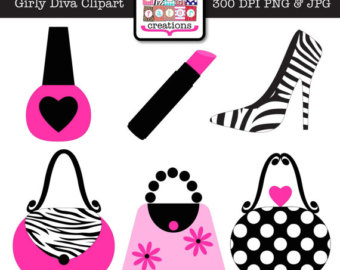 Classy clipart diva Girly Shoe Graphic Design Pink