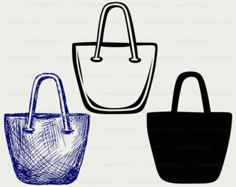 Purse clipart tote bag Silhouette cricut handbag svg handbag