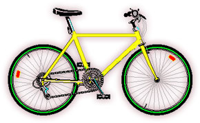 Pushbike clipart animated gif Bicycle clipart Animated modern Bicycle