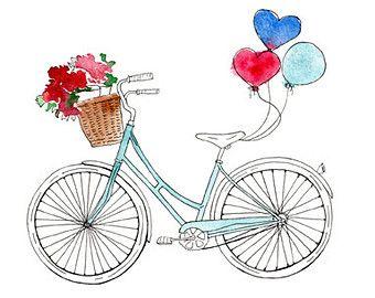 Basket clipart bike Basket print Vintage download Bicycle