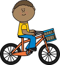 Bicycle clipart kid tricycle A with Clip basket Transportation