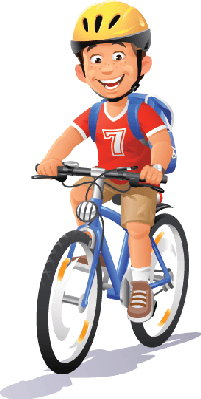 Biker clipart riding bicycle  PBS Bikes Clipart Media