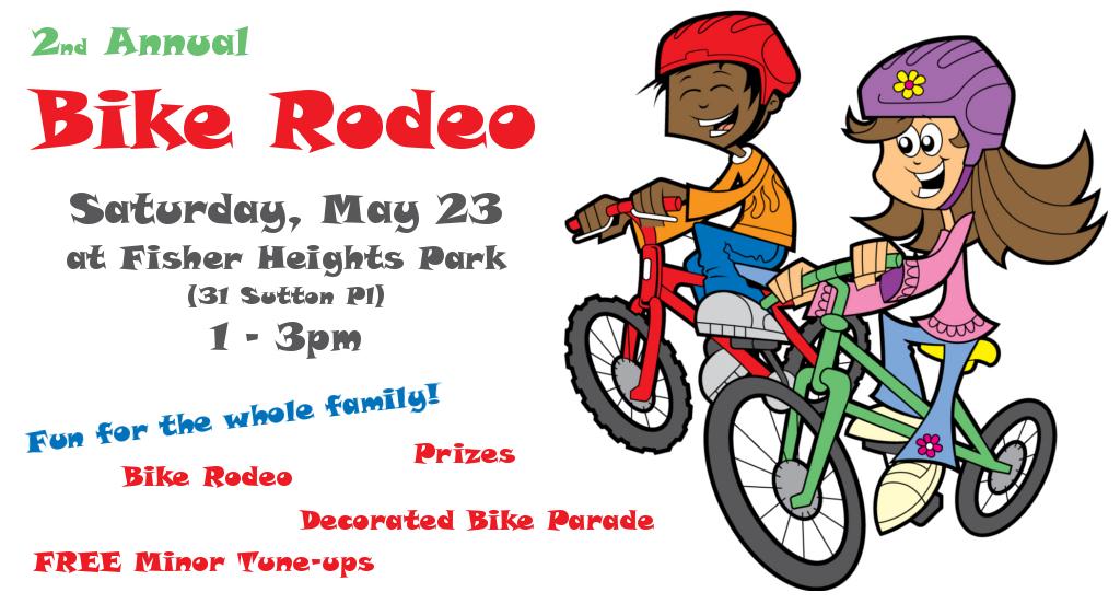 Bike clipart bike rodeo This Rodeo Saturday Heights 3pm!