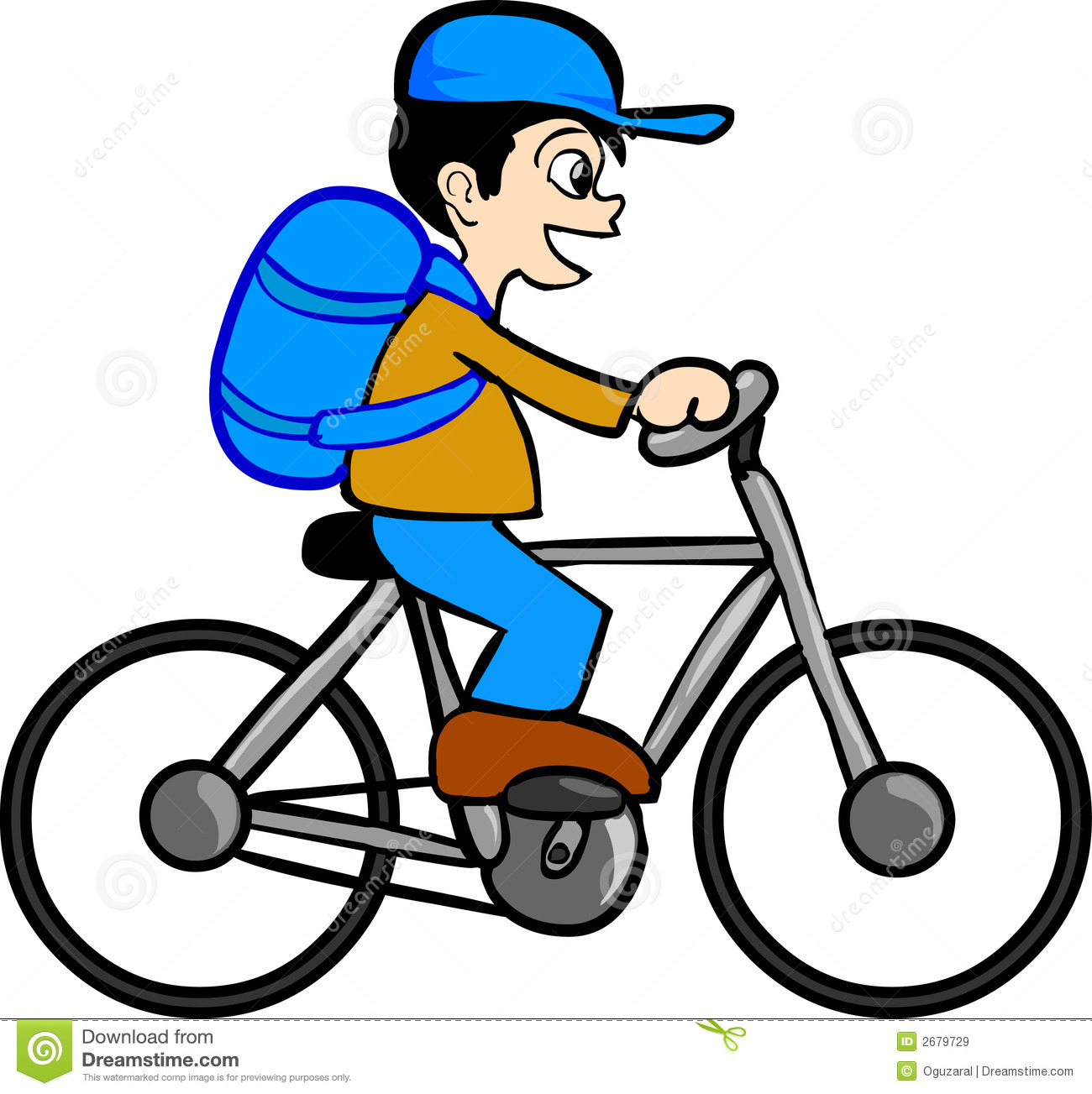 Biker clipart riding bicycle Bike Collection Young  bike: