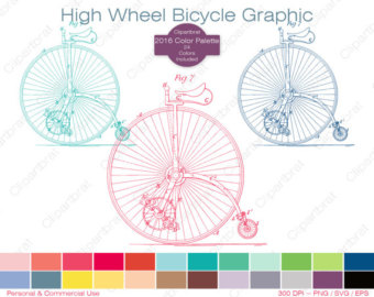 Pushbike clipart colorful HIGH Antique BICYCLE Palette Bicycle