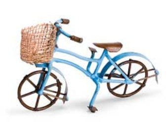 Pushbike clipart double W/ Basket Red Bicycle or