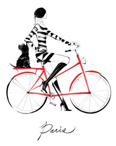 Pushbike clipart double Two Illustration la Print Bicycle