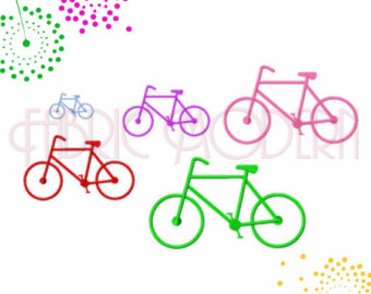 Pushbike clipart double Wheeler multiple Design sizes cycling