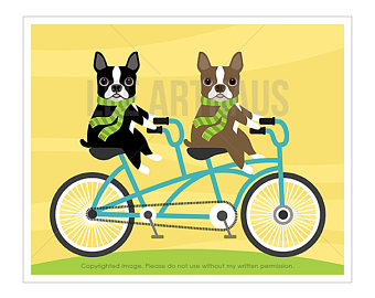 Pushbike clipart double On Etsy Bicycle Print Wall