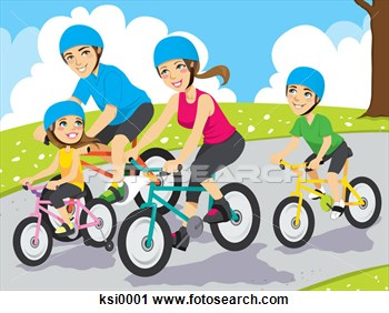 Bike clipart family cycling Cycling cliparts Clipart Cycling Family