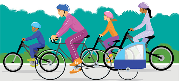 Bicycle clipart family cycling And – rides family 5