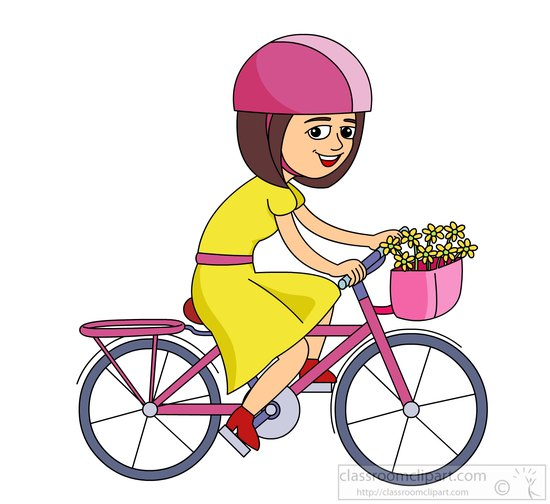 Bicycle clipart female cyclist At Cycling bicycle clip Cycling