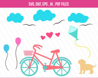 Pushbike clipart hobby DXF craft cutting Vector Bicycle