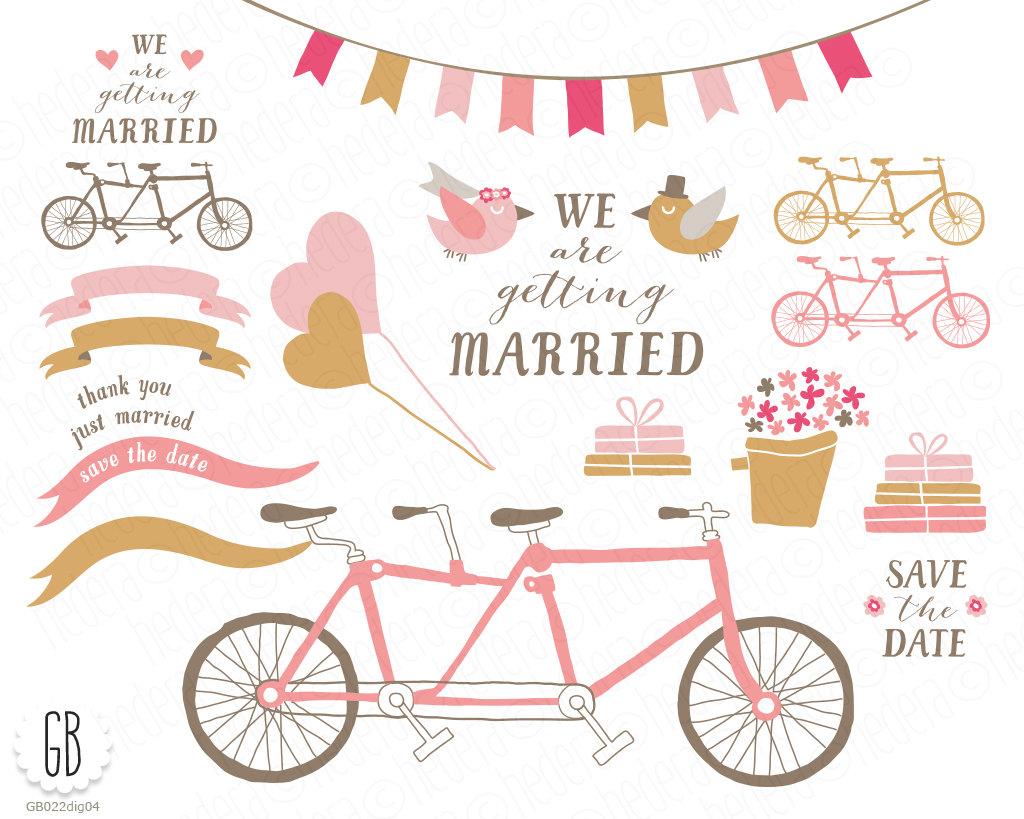 Balloon clipart bicycle Tandem a digital bride balloons