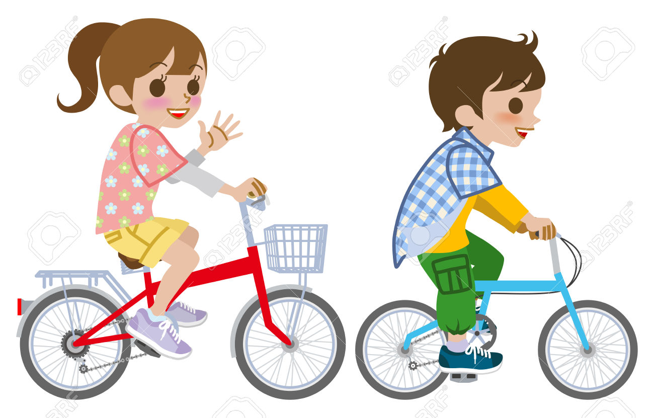 Bike clipart female cyclist Collection Family on  bicycle