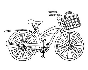 Pushbike clipart line drawing Clipart Outline Beach clipart JPEG