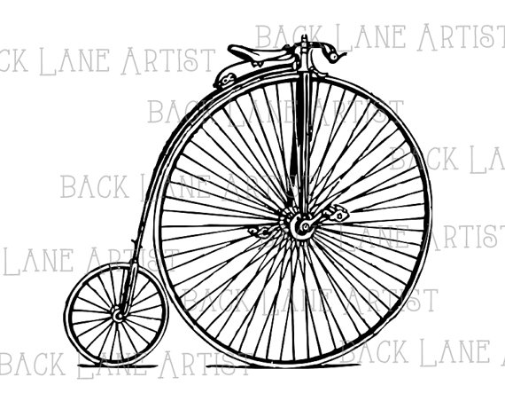 Pushbike clipart line drawing Illustration digital This  file