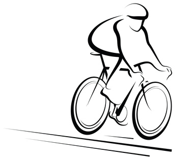 Bicycle clipart line drawing 2 clipartwiz designs bikes art