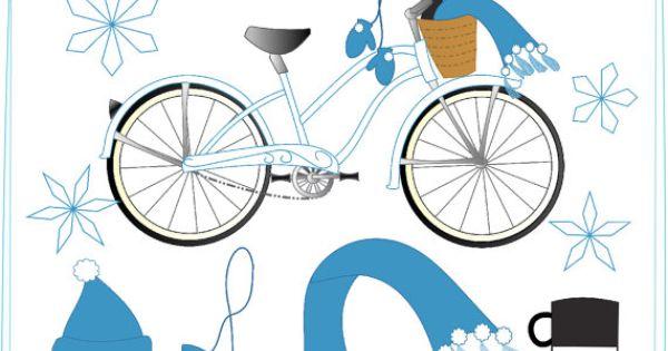 Pushbike clipart momentum Fun  Winter Clipart ShyClipArt