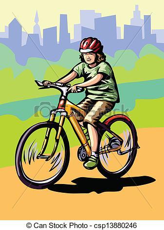Drawn bike bike riding Illustration ride boy  ride