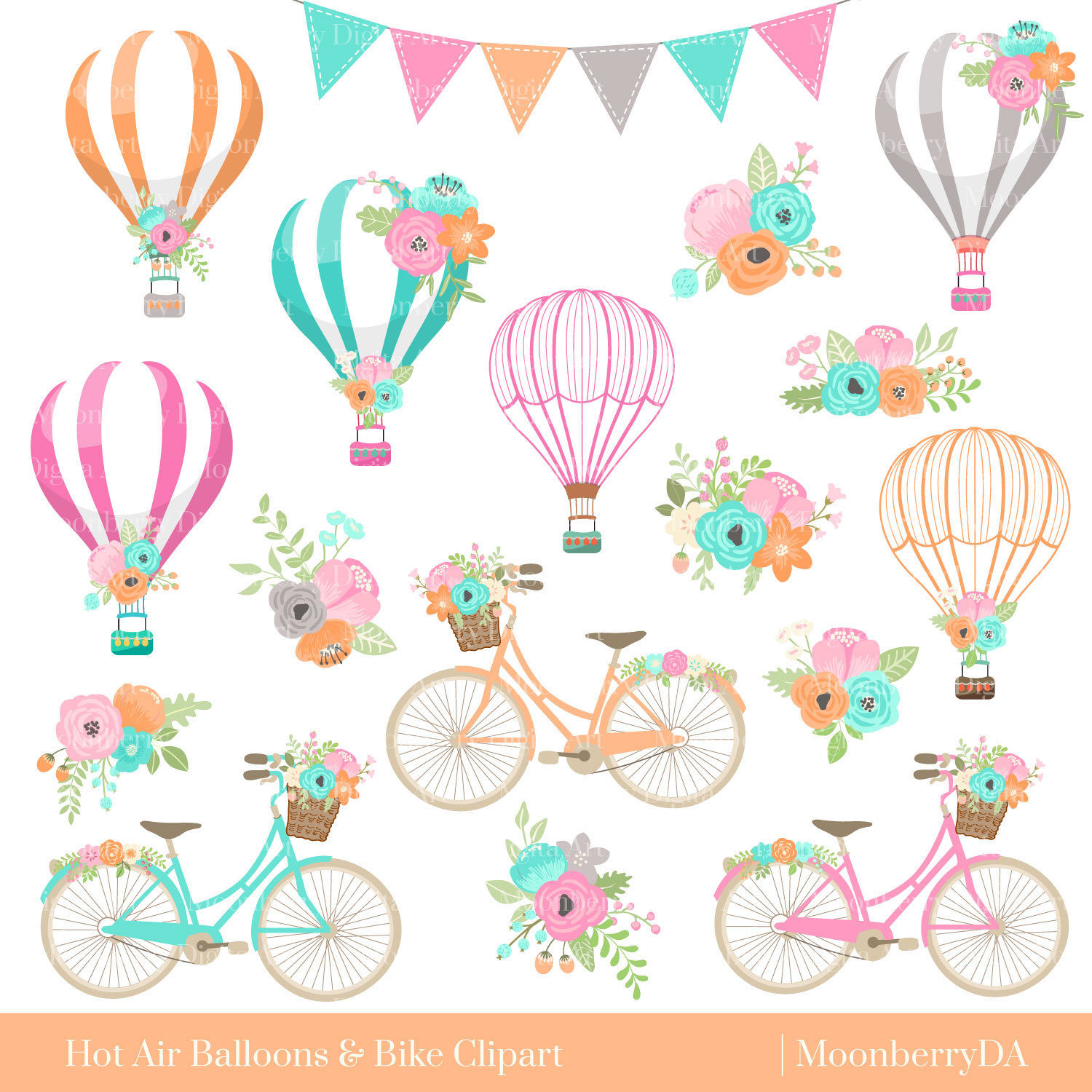 Balloon clipart bicycle Clipart Air Balloons Bicycle Bicycle