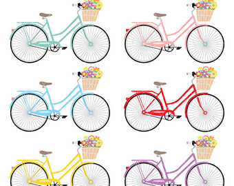 Bicycle clipart school supply Scrapbooking Paper for Cards Invitations