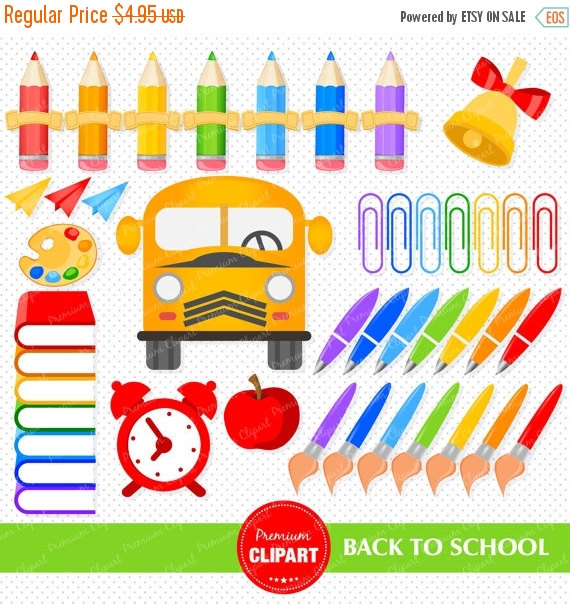 Bicycle clipart school supply Digital VectoryClipart to Books Clipart