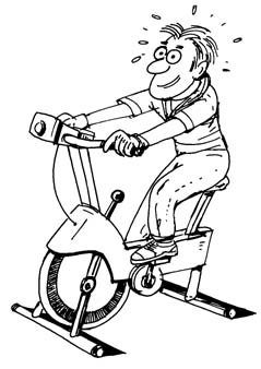 Bicycle clipart exercise Spin Art Clip Download Cycling