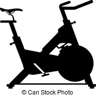 Bicycle clipart stationary bike Silhouette bike 637 Stationary Clipart