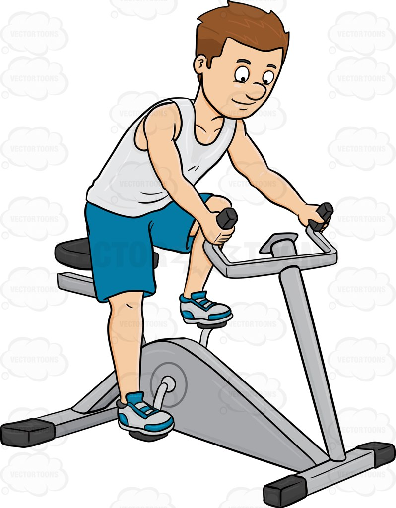 Bicycle clipart stationary bike  Riding Man Bike A