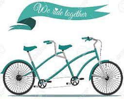 Bike clipart two bike Clipart Tandem Bicycle Bicycle Tandem