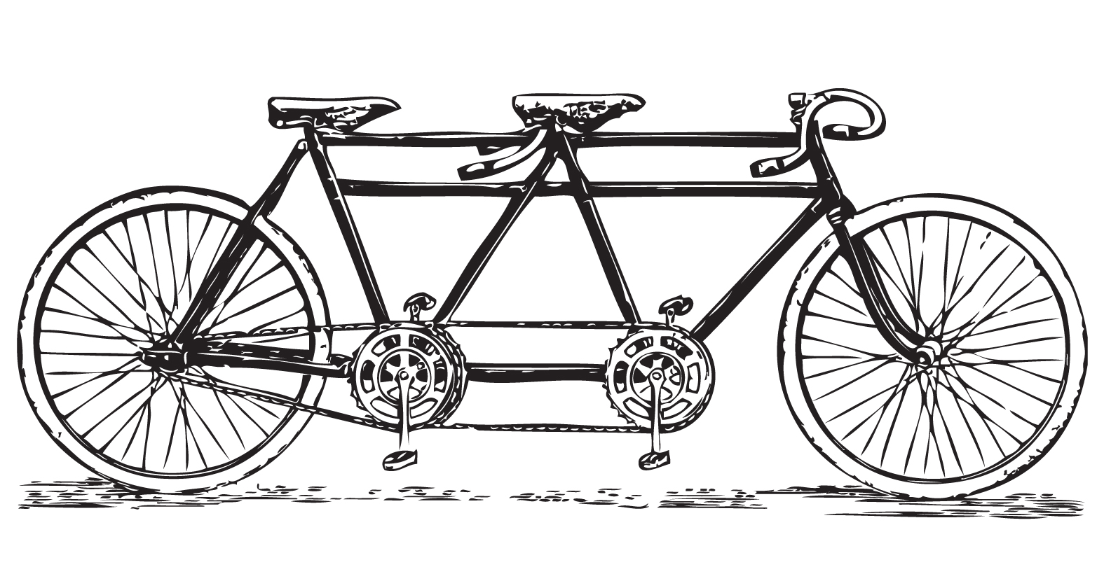 Bicycle clipart retro bike Tandem images: art Free art