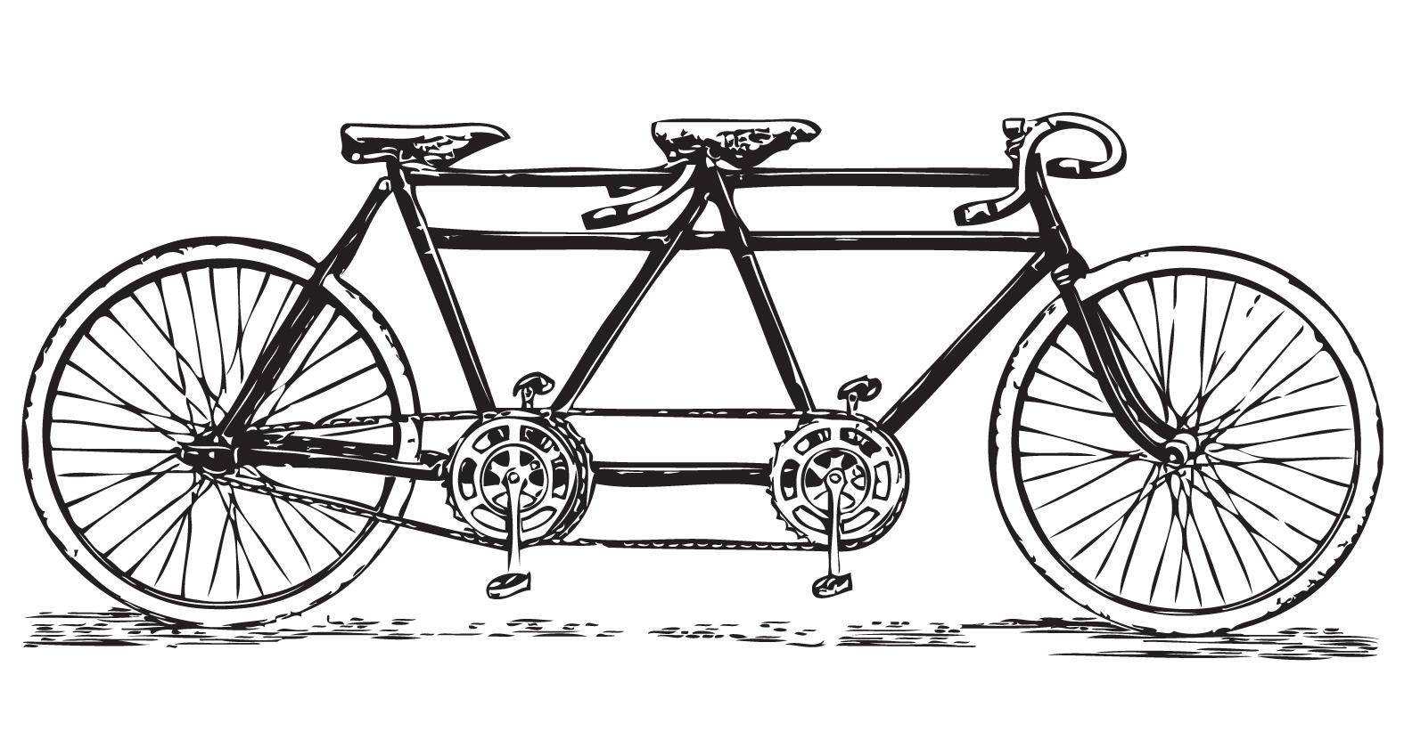 Bike clipart retro bike #2
