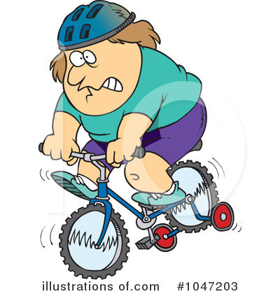 Pushbike clipart training wheel Free toonaday Royalty (RF) by