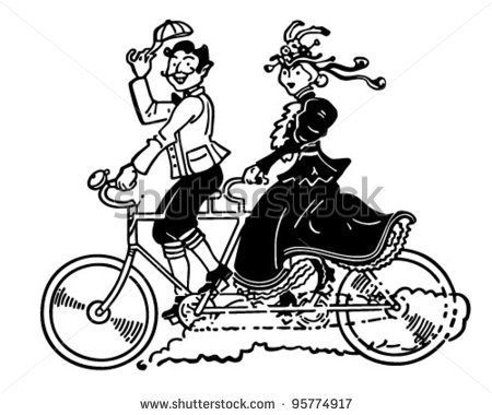 Bike clipart two bike  Vintage Bicycle Images Art