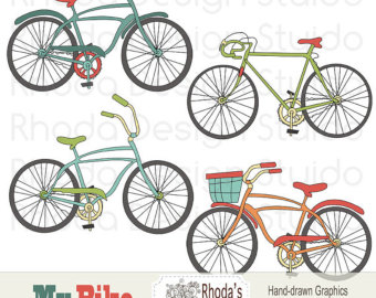 Bicycle clipart retro bike Clipart (Retro) Art Vintage Retro