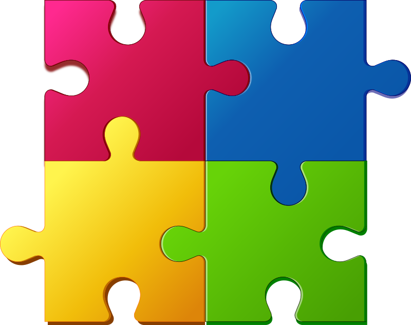 Puzzle clipart Free to pieces free art